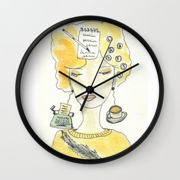 Signora in giallo Wall Clock
