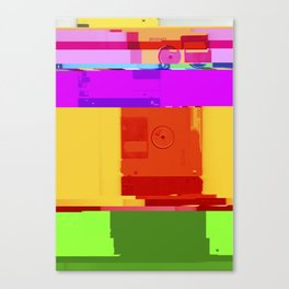 Databent Floppy Disks #2 Canvas Print