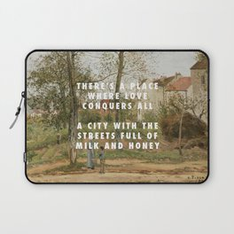 Camille Pissarro, Houses at Bougival (Autumn) (1870) / Halsey, Good Mourning (2017) Laptop Sleeve