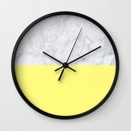 Lemon Marble Wall Clock