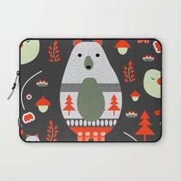 Christmas bears and birds Laptop Sleeve