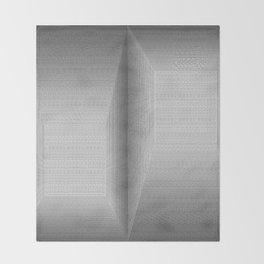 Binary Rooms Throw Blanket
