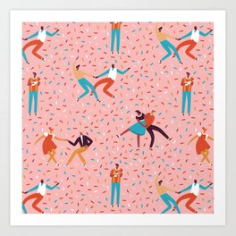 Sock hops Art Print
