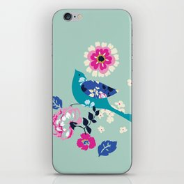 Birds and Blooms 3 iPhone Skin