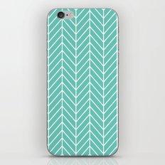 Turquoise Herringbone Pattern iPhone & iPod Skin