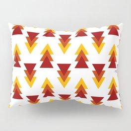 Red Yellow Purple Alternating Arrows Pattern Pillow Sham