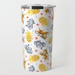 Baby Big Cats Pattern Travel Mug