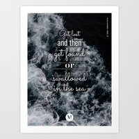coldplay Art Prints featuring c - Sea Waves Lyrics Posters - Coldplay by emme