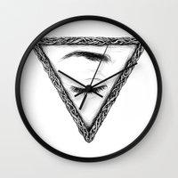 sleep Wall Clocks featuring Sleep by Tom Kitchen