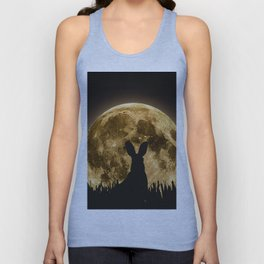 Hare in the air Unisex Tank Top
