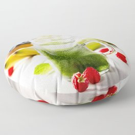 green smoothie Floor Pillow