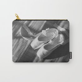 Ballet dance shoes. Black and White version. Carry-All Pouch