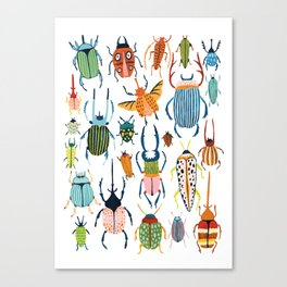 Woodland Beetles Canvas Print