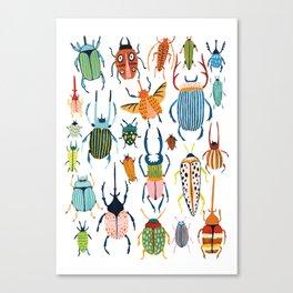 Woodland Beetles Canvas Print