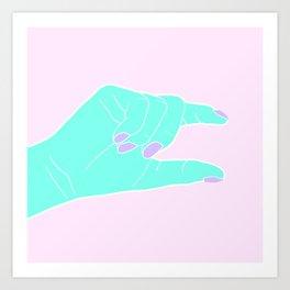 THE PINCHING HAND Art Print