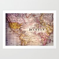 not all who wander are lost Art Prints featuring wander by Sylvia Cook Photography