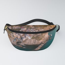 Aerial above Cinque Terre, Italy Fanny Pack