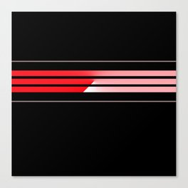 Team Colors 5...red,gray Canvas Print