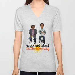 Troy And Abed In the Morning Unisex V-Neck