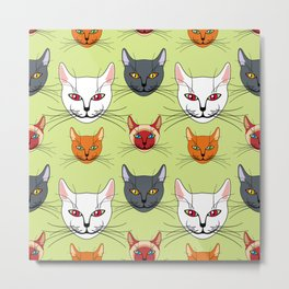 Various colored cats Metal Print
