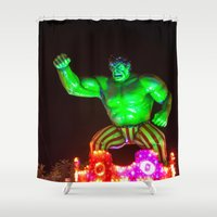 hulk Shower Curtains featuring Hulk by Roser Arques