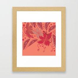 Samoa Watermelon Polynesian Floral Framed Art Print