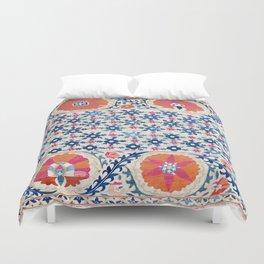 Bokhara Nim Suzani Southwest Uzbekistan Embroidery Print Duvet Cover