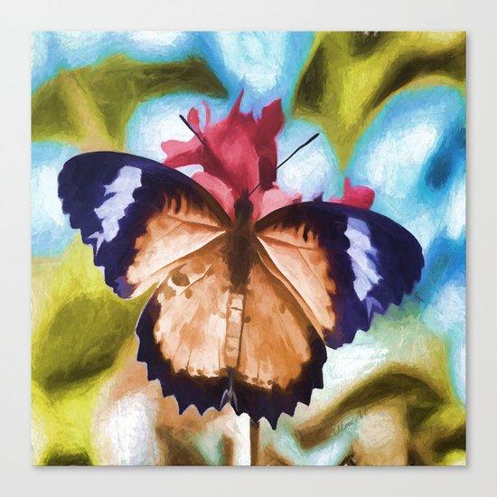 Flying Flower Canvas Print