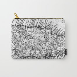 Vintage Map of Jamaica (1771) BW Carry-All Pouch