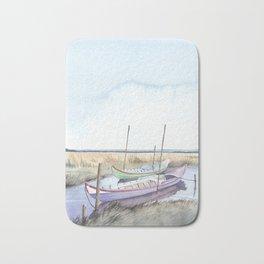 River bank boats - Landscape - Ria de Aveiro , Portugal Bath Mat