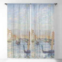 "Auguste Renoir ""Grand Canal, Venice"" Sheer Curtain"