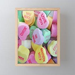 Candy Hearts Framed Mini Art Print