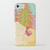chicken iPhone & iPod Cases featuring Chicken by Raewyn Haughton