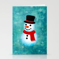 snowman Stationery Cards featuring snowman by vitamin