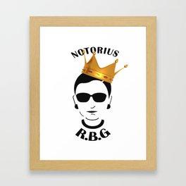 Funny Ruth Bader Ginsberg T-shirt - XMAS T-Shirt Framed Art Print