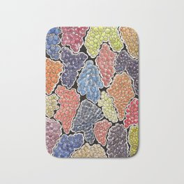Grapes for wine lovers! Bath Mat
