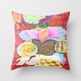 Pez Hembra, Alex Chinea Pena Throw Pillow