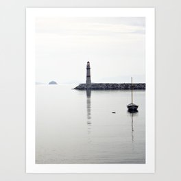 light house in bodrum Art Print