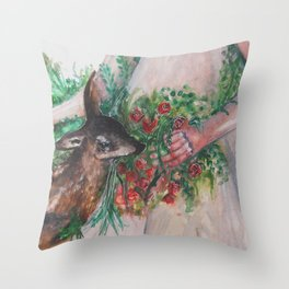 I'm healing with time Throw Pillow