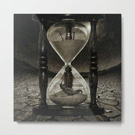 Sands of Time ... Memento Mori - Monochrome Metal Print
