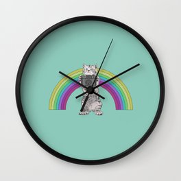 Lomo Kitten with his Holga camera  Wall Clock