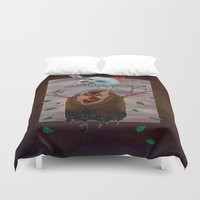 snow Duvet Covers featuring Snow by gunberk