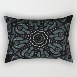 Dark Mandala #4 Rectangular Pillow