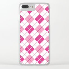Argyle in Pink Clear iPhone Case