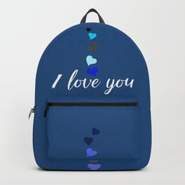 I love you DADDY typographic print for all loving fathers Backpack