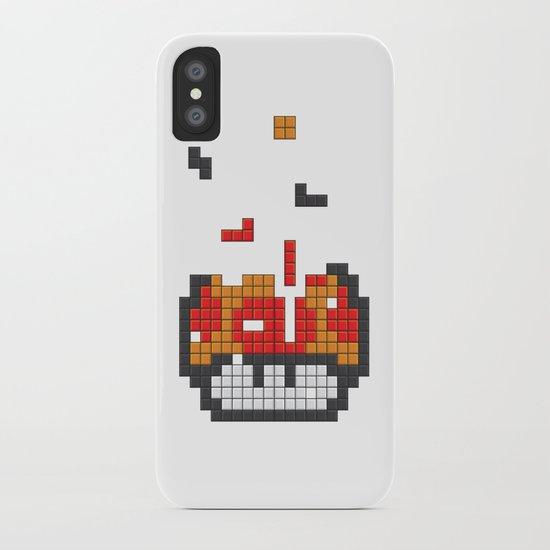 Super Mario Mushroom Tetris iPhone Case