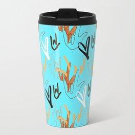 I Love You ILY - Turquoise Travel Mug
