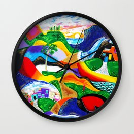 Sunrise in Puerto Rico Wall Clock