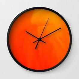 Cadmium Flame Wall Clock