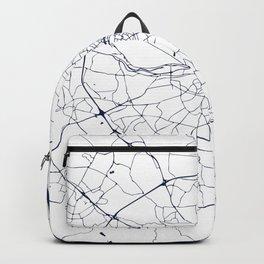 White on Navy Blue Dublin Street Map Backpack
